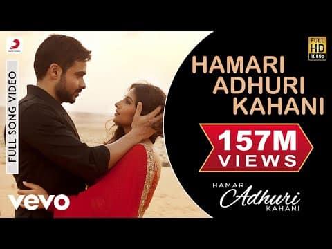 Hamari Adhuri Kahani (हमारी अधूरी कहानी) Lyrics - Arijit Singh | Emraan Hashmi, Vidya Balan