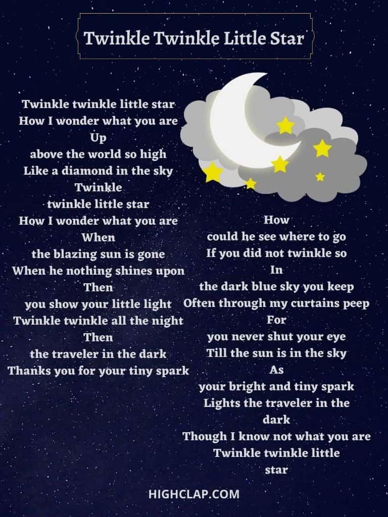 Twinkle Twinkle Little Star(ट्विंकल ट्विंकल लिटल स्टार) Rhyme
