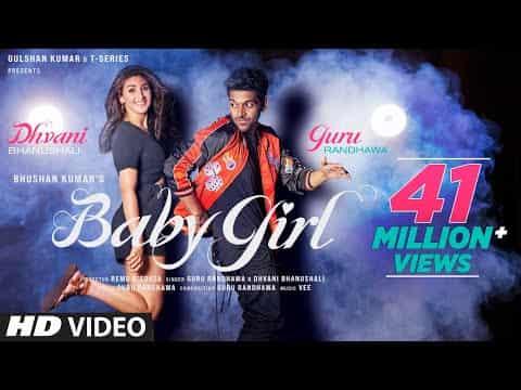 Baby Girl (बेबी गर्ल) Lyrics | Guru Randhawa & Dhvani Bhanushali