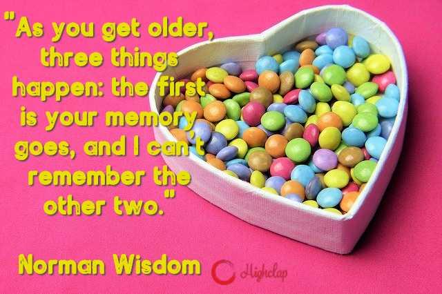 Norman Wisdom birthday quote