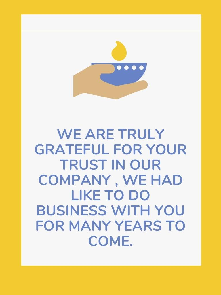 Diwali Wishes To Clients