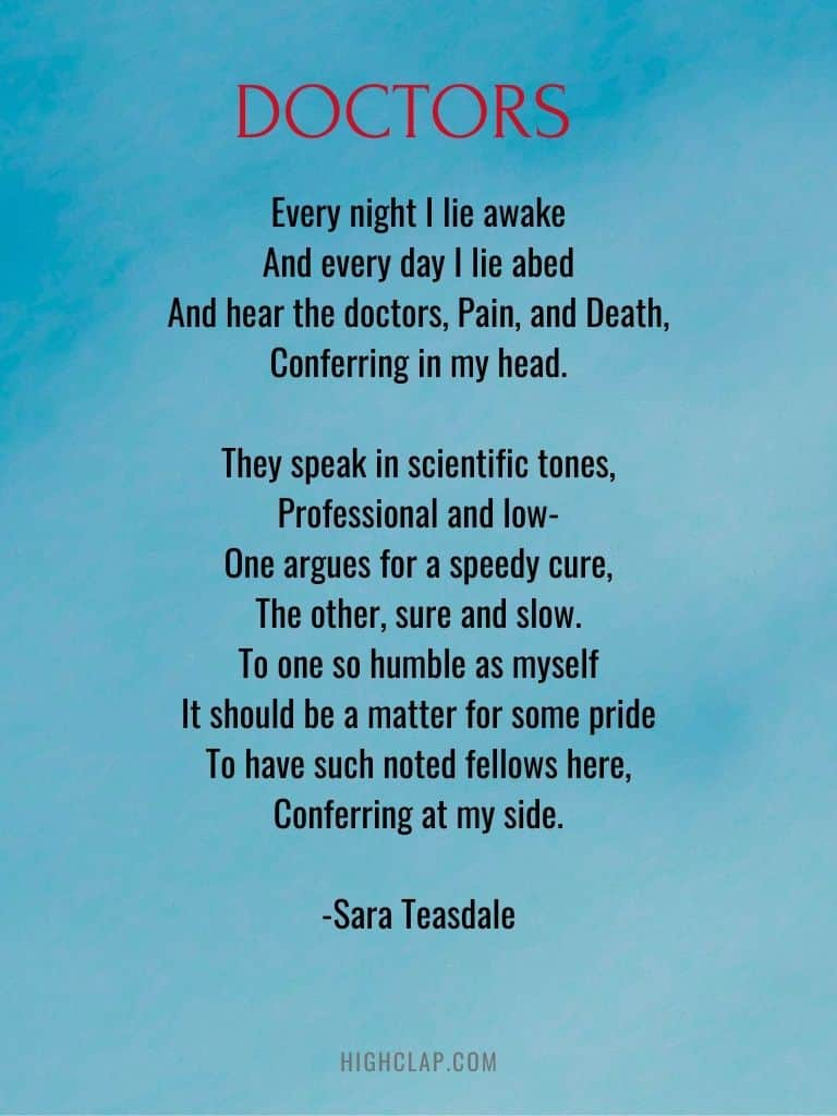Thank you Poems for Doctors