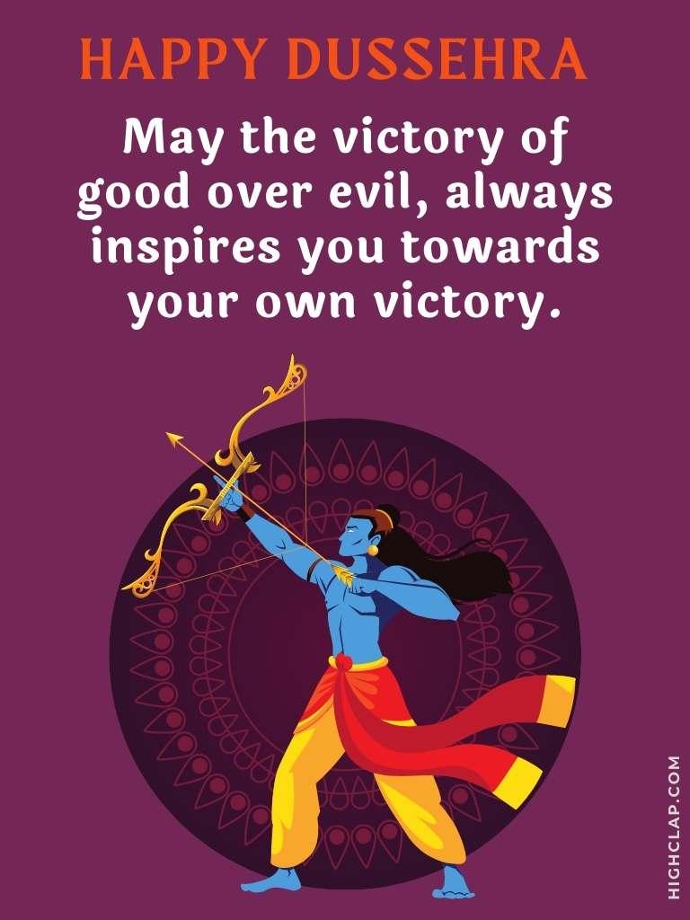 Vijayadashami wishes   Good over evil