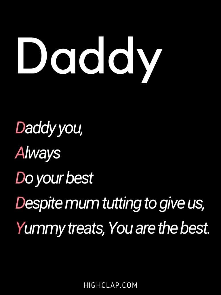 Acrostic  Father's Day Poem