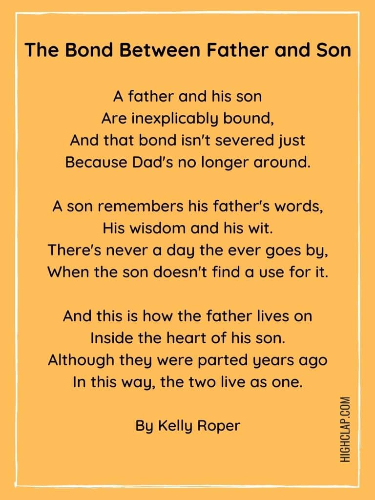 The Bond Between Father and Son - Father's Day Poem
