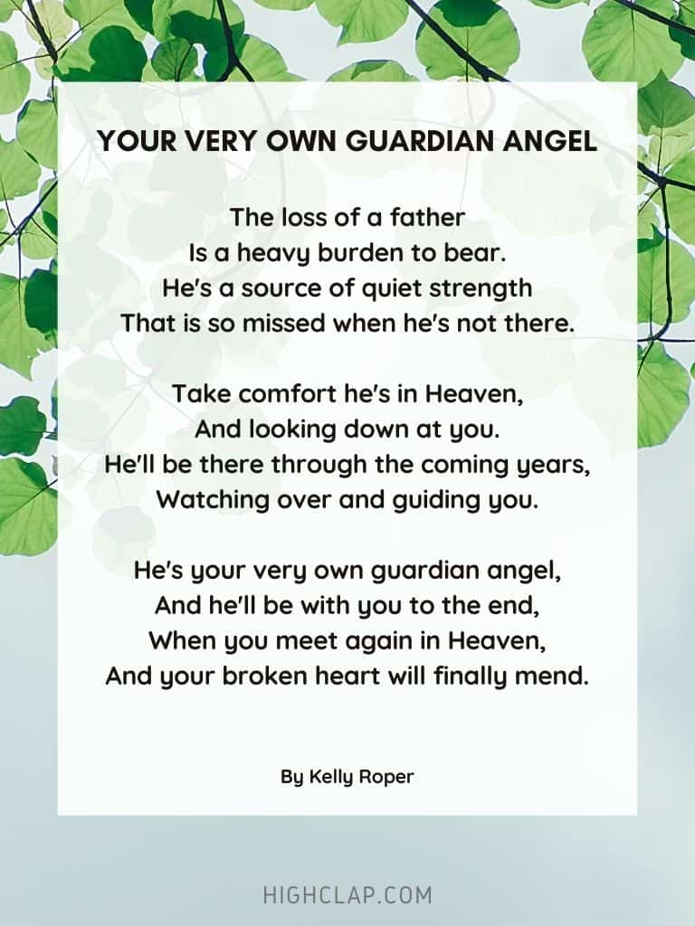 Your Very Own Guardian Angel - Father's Day Poem