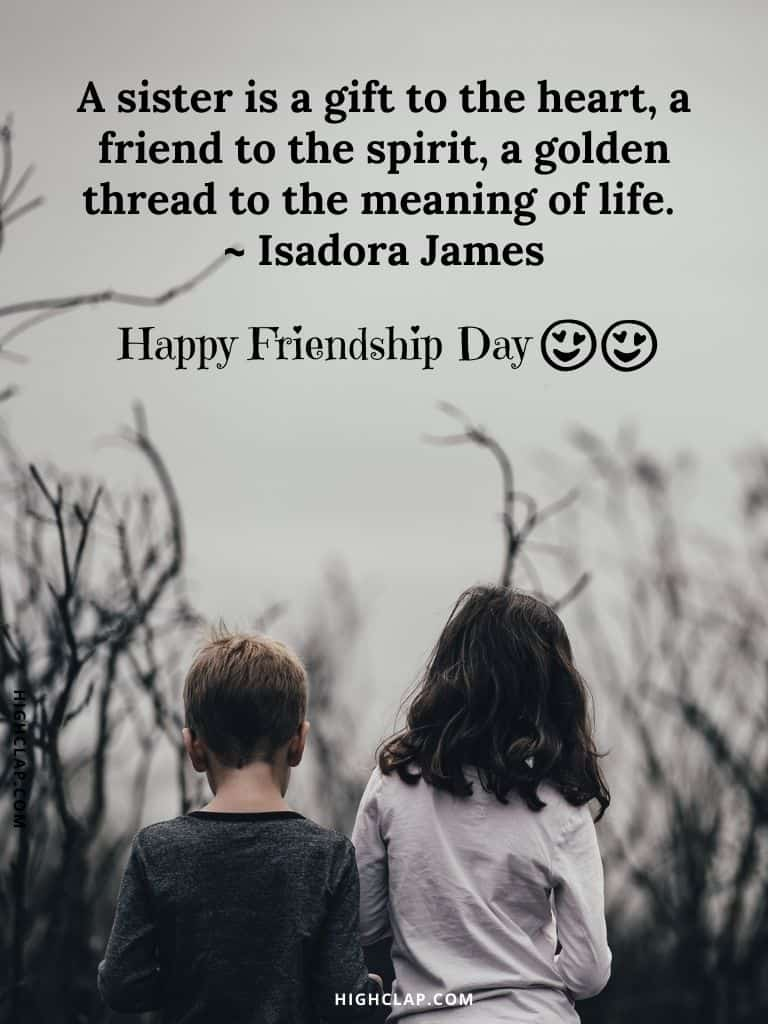 Friendship Day Quotes For Sister