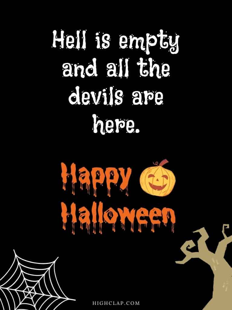 Halloween quote by William Shakespeare