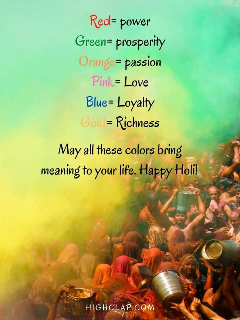 Holi Quote Message