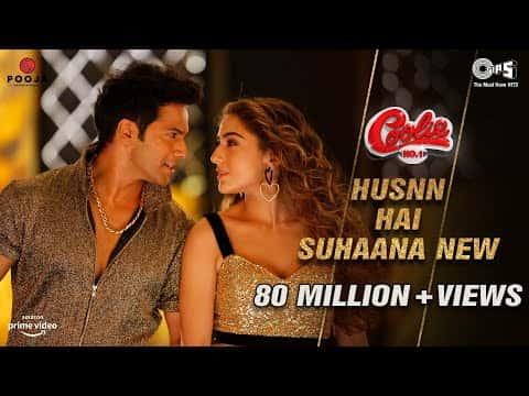 Husnn Hai Suhaana (हुस्न है सुहाना) Lyrics- Coolie No. 1 | Chandana Dixit, Abhijeet Bhattacharya