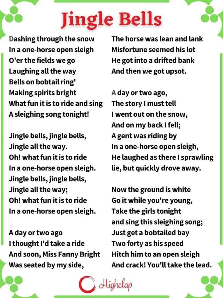 Jingle Bells Christmas Carol