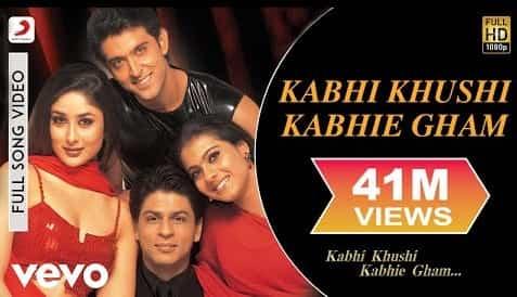 Kabhi Khushi Kabhie Gham (कभी खुशी कभी गम) Lyrics- Kabhi Khushi Kabhie Gham | Lata Mangeshkar