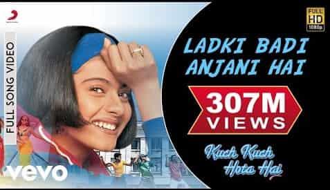 Ladki Badi Anjaani Hai (लड़की बड़ी अंजानी है) Lyrics- Kuch Kuch Hota Hai | Kumar Sanu, Alka Yagnik