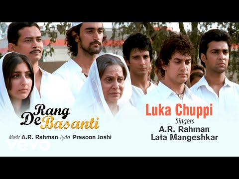 Luka Chuppi (लुका छुपी) Lyrics- Rang De Basanti   Lata Mangeshkar