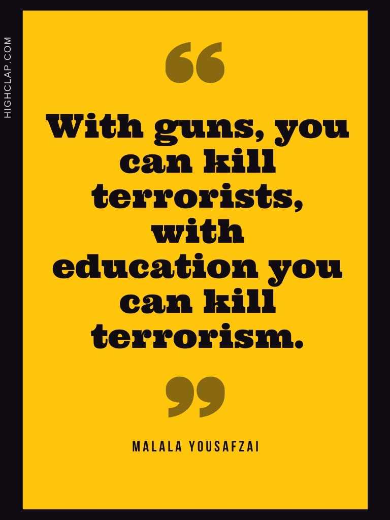 Malala Yousafzai Quote On Education