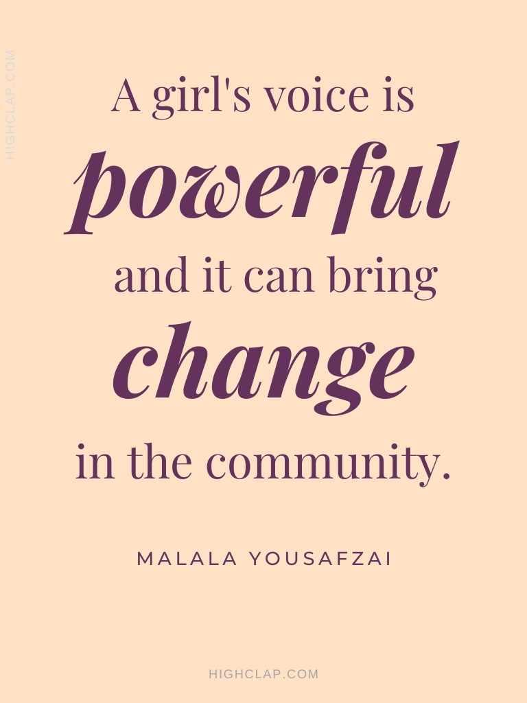 Malala Yousafzai Quotes About Women