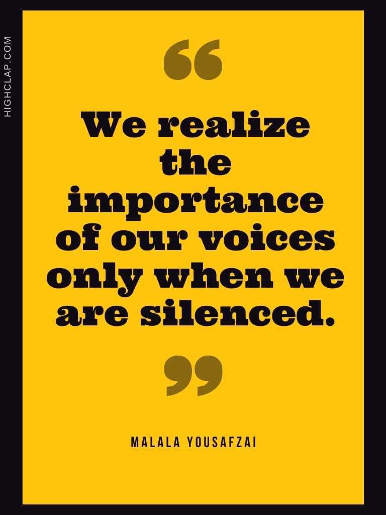 Malala Yousafzai Leadership Quote