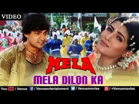 Mela Dilon Ka Aata Hai (मेला दिलों का आता है) Lyrics- Mela | Alka Yagnik, Udit Narayan, Sadhana Sargam, Abhijeet