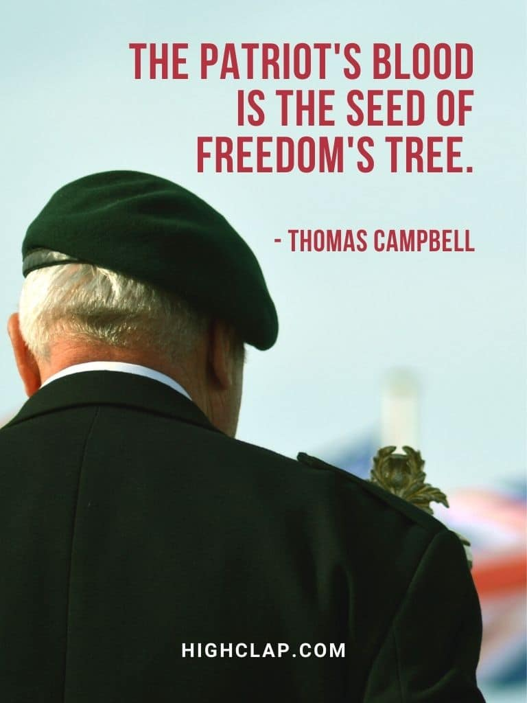The patriot's blood is the seed of freedom's tree - american memorial day