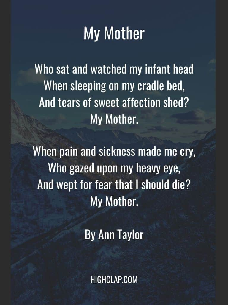 My Mother Poem - Mothers Day