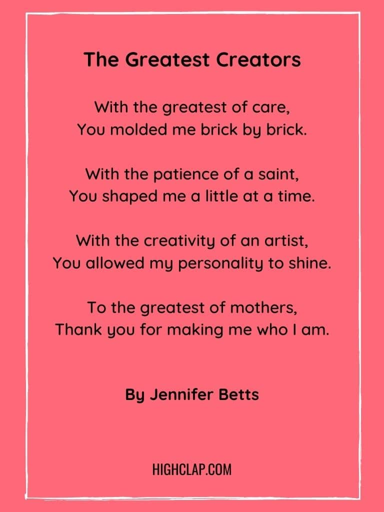 The Greatest Creators... My Mother - Mothers Day