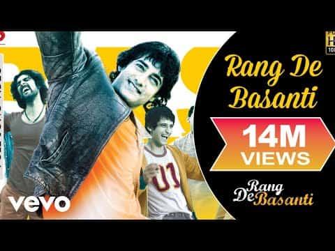 Rang De Basanti (रंग दे बसंती) Lyrics- Rang De Basanti   Daler Mehndi, Chitra