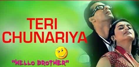 Teri Chunariya (तेरी चुनरिया) Lyrics- Hello Brother | Kumar Sanu, Alka Yagnik
