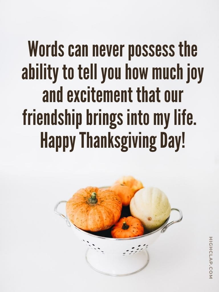 Thanksgiving Message To Friends