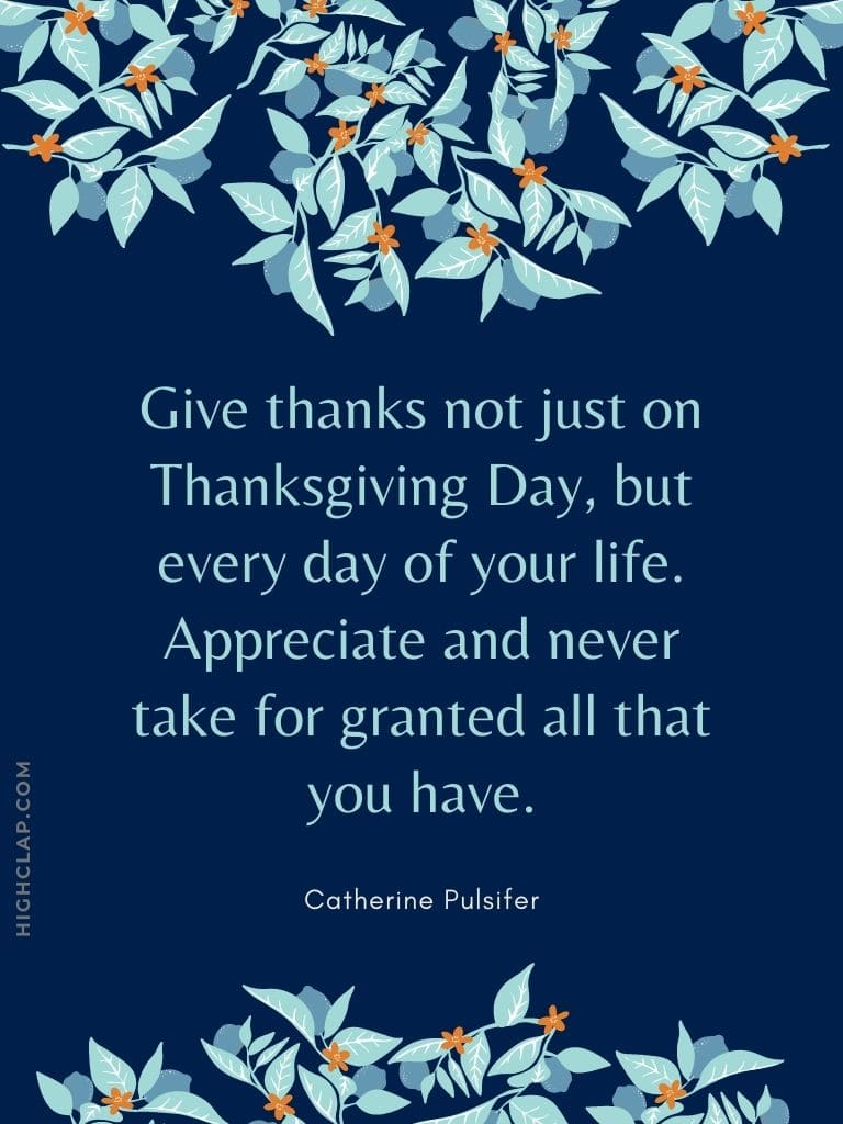 Quotes On Thanksgiving And Gratitude