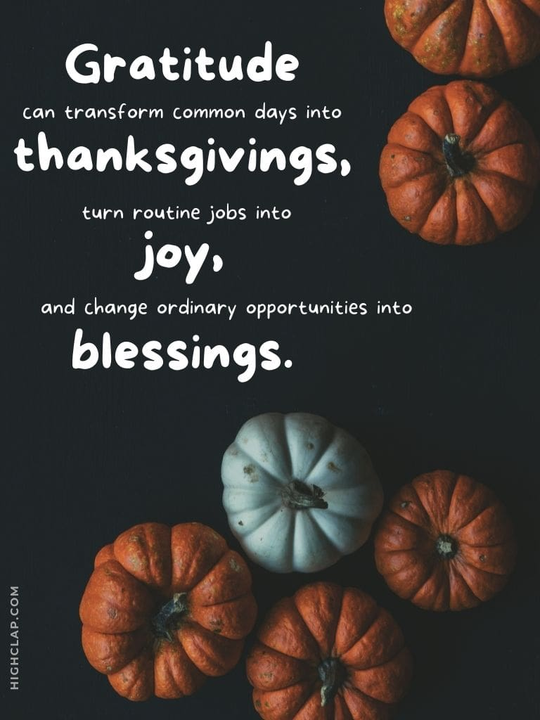 Thanksgiving Blessings Quotes