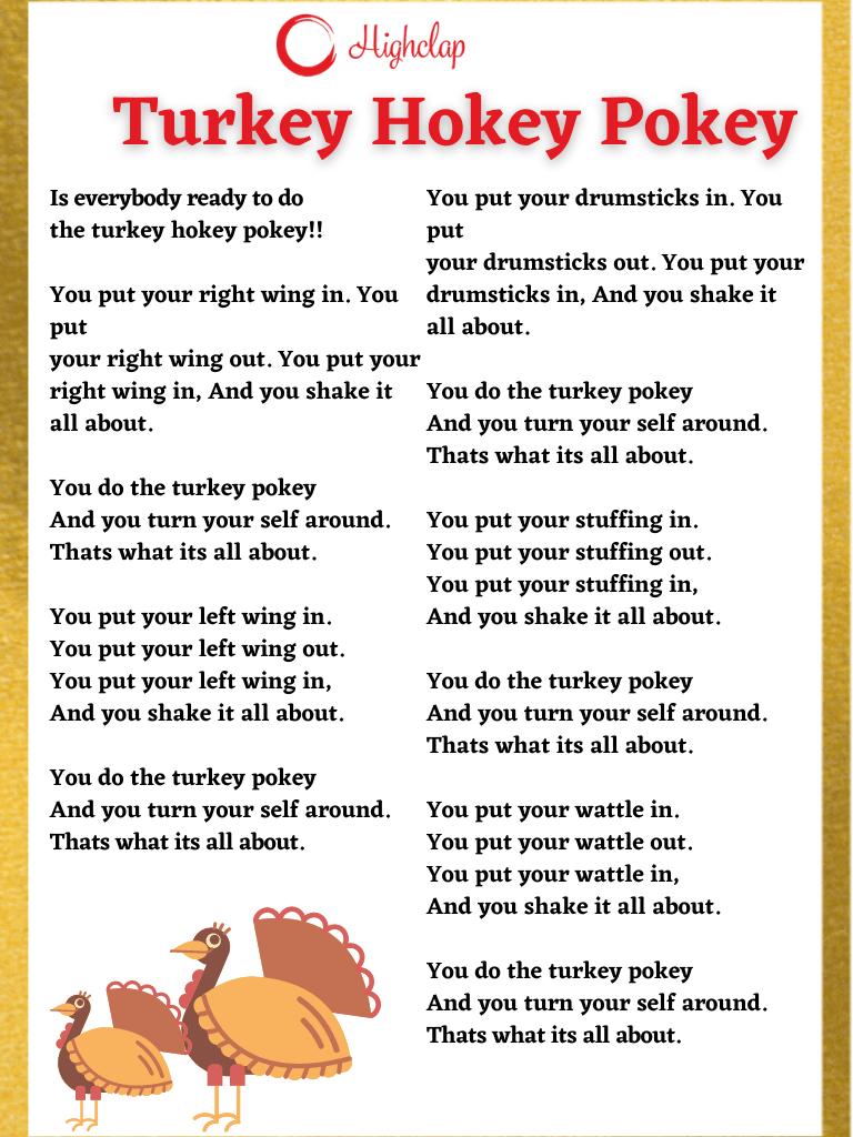 Turkey Hokey Pokey Thanksgiving song