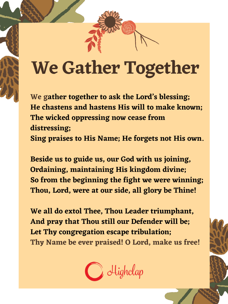We Gather Together Thanksgiving song
