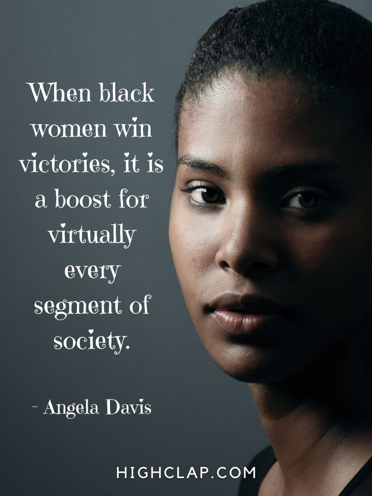 When black women win victories, it is a boost for virtually every segment of society - Angela Davis - Women Day Quote