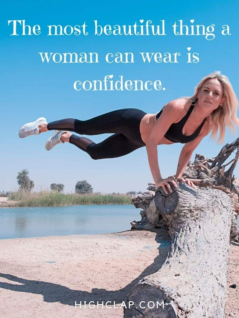 The most beautiful thing a woman can wear is confidence - Women Day Quote
